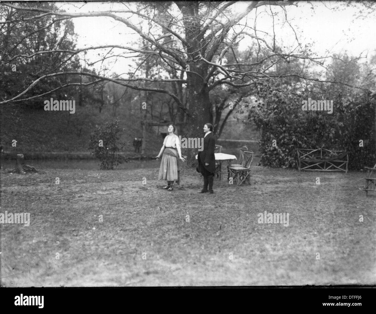 Western College on Tree Day 1919 - Stock Image