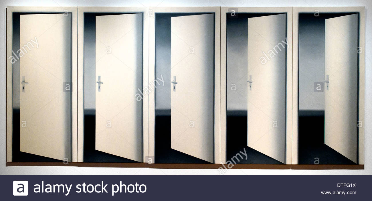 Five Doors 1967 Gehard Richter 1932 German Germany & Five Doors 1967 Gehard Richter 1932 German Germany Stock Photo ...