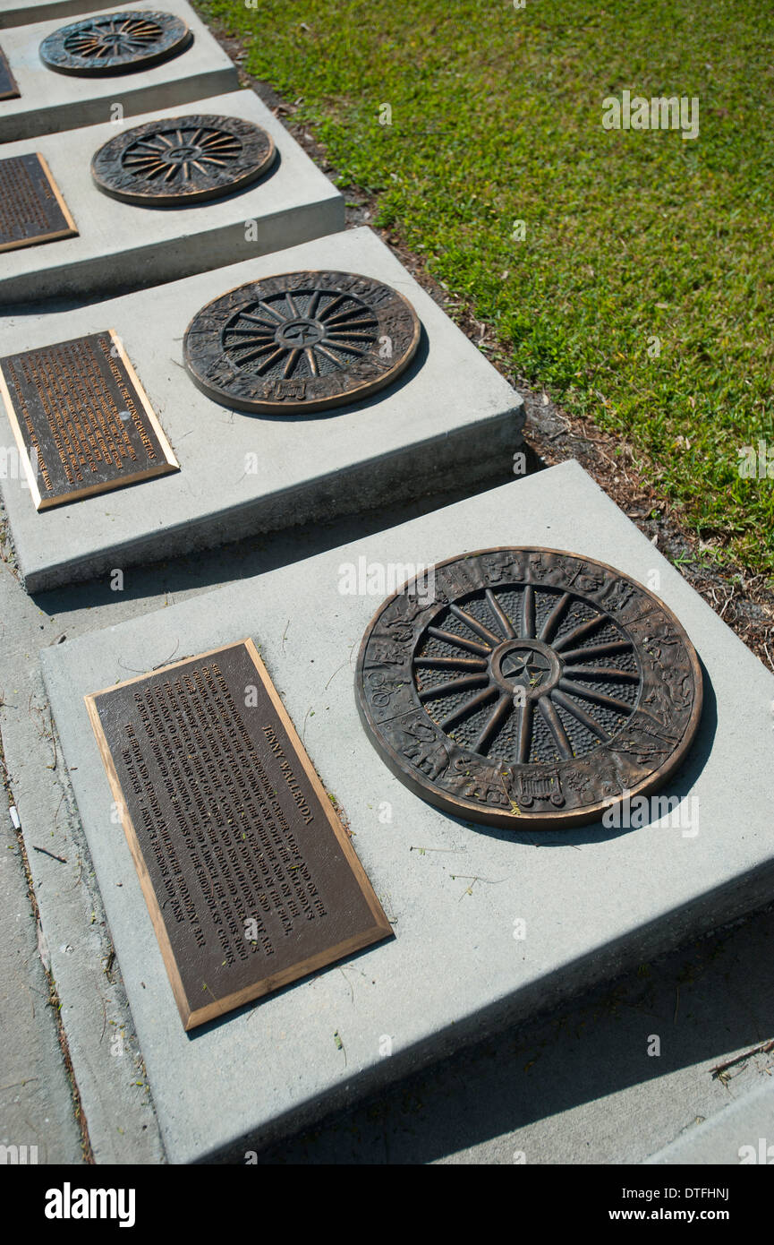 USA Florida Sarasota FL St. Armands Circle Key - Tribute and memorial to the great circus performers - Stock Image