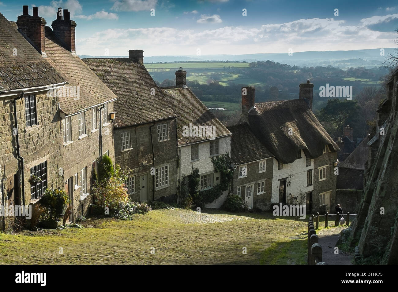 Gold Hill, Shaftesbury - Stock Image