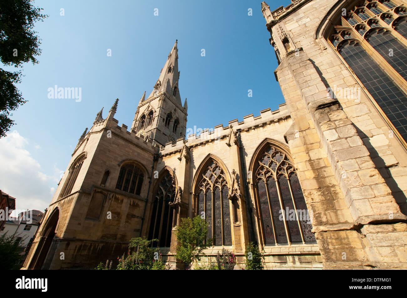 The Church of St Mary Magdalene in Newark, Nottinghamshire England UK - Stock Image