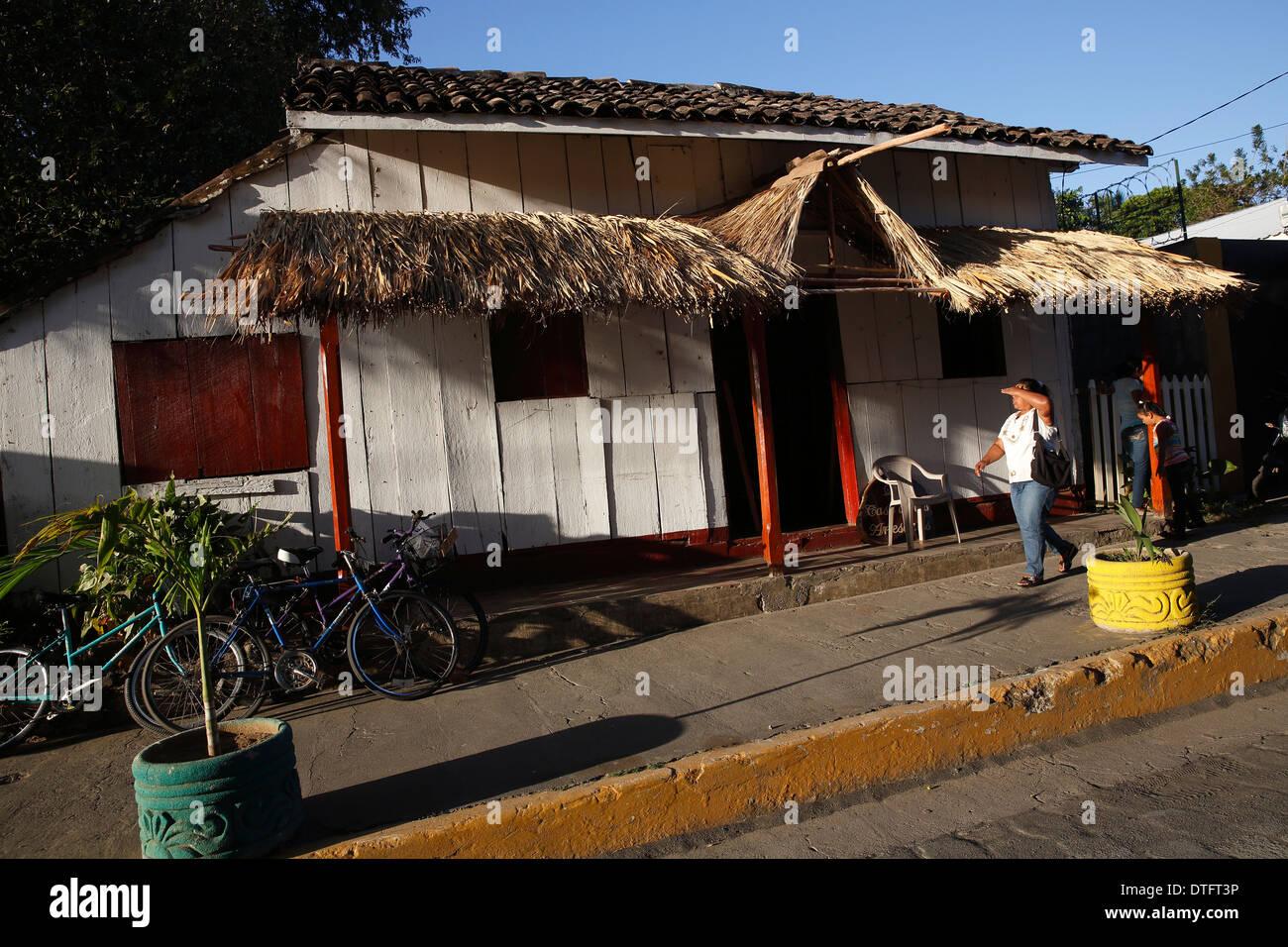 Street scene Moyogalpa Nicaragua Stock Photo