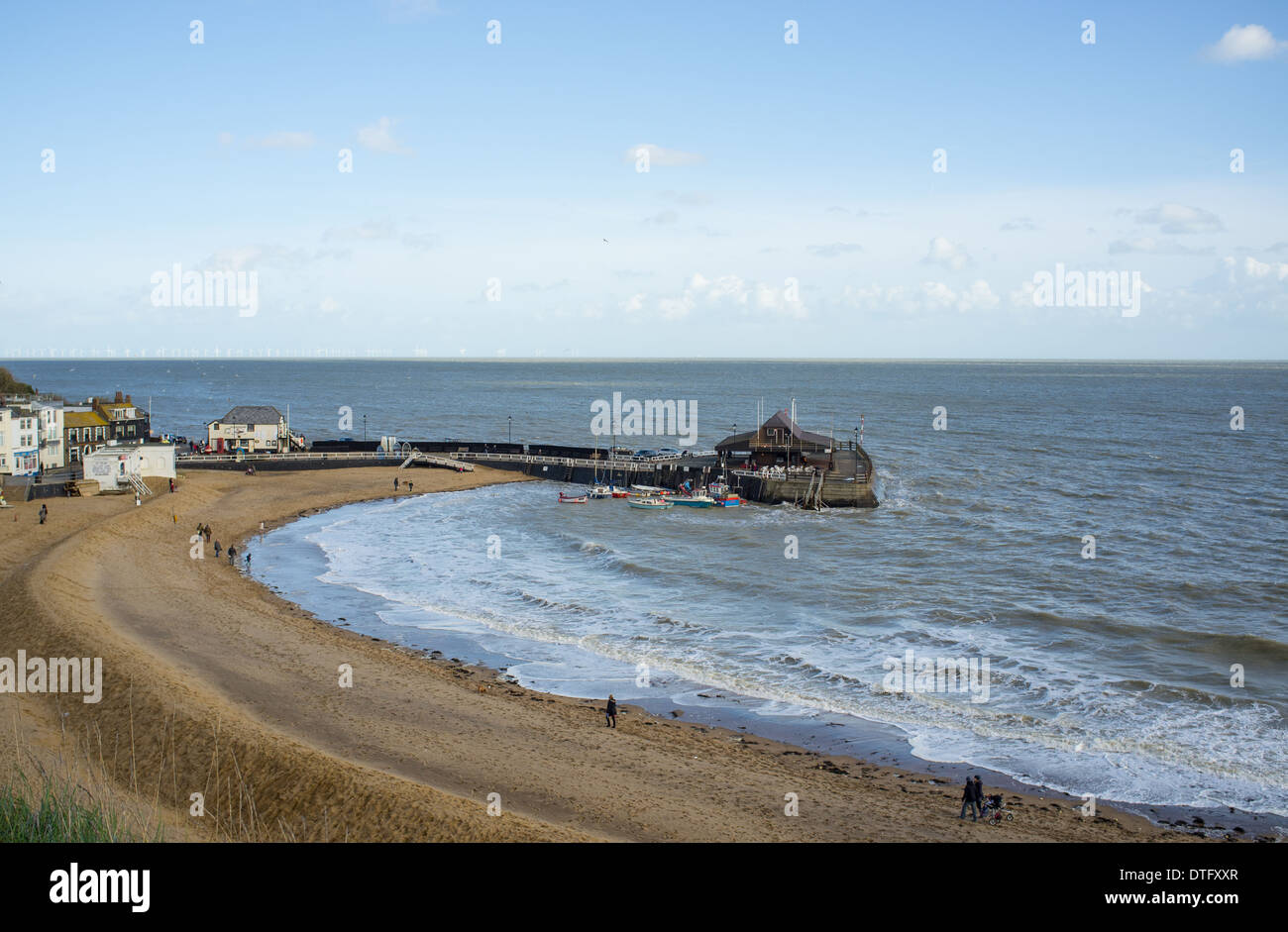 The beach at Broadstairs, Kent, United Kingdom - Stock Image