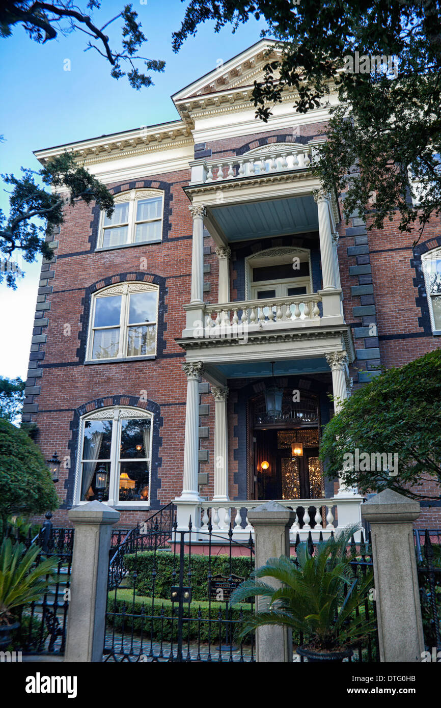 Calhoun Mansion in Charleston, South Carolina - Stock Image