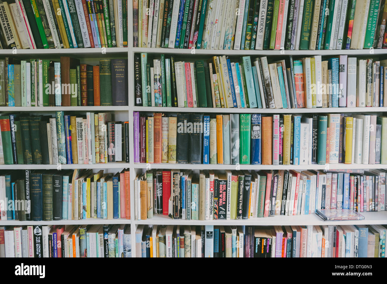 Old Books on a bookshelf - Stock Image