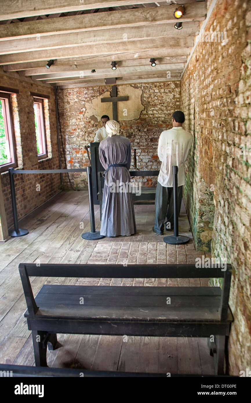 Boone Hall Plantation slave church - Stock Image
