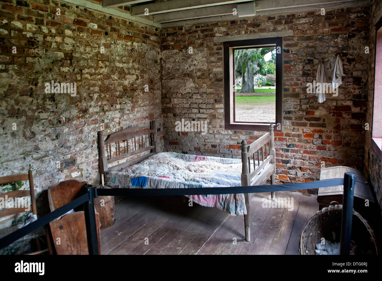 Boone Hall Plantation slave house - Stock Image