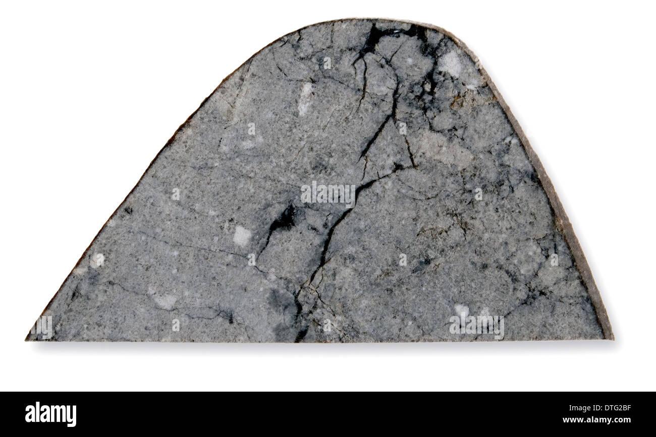Slice of the lunar meteorite Northwest Africa 482 - Stock Image
