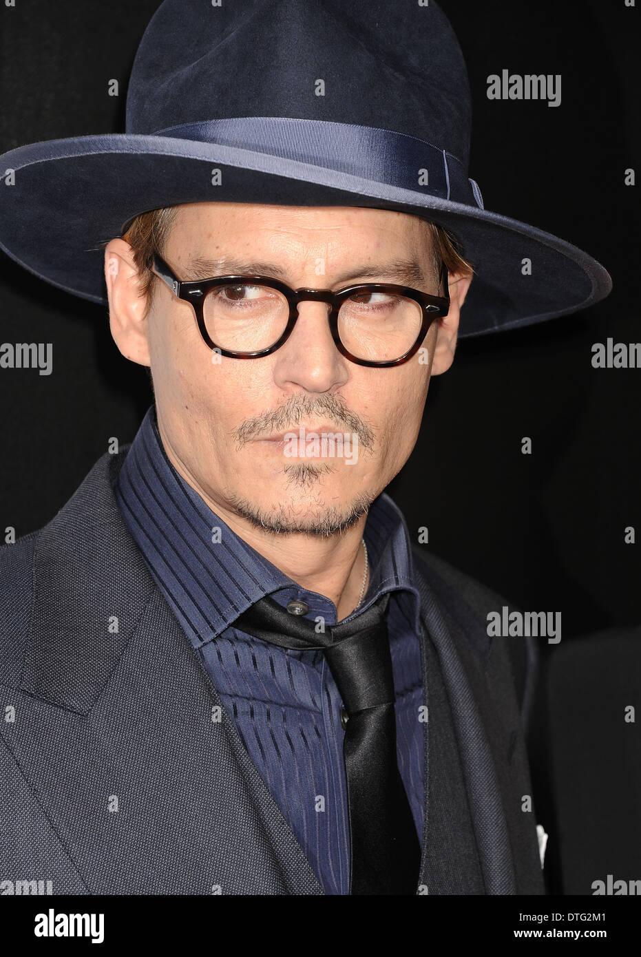JOHNNY DEPP US film actor in February 2014. Photo Jeffrey Mayer - Stock Image