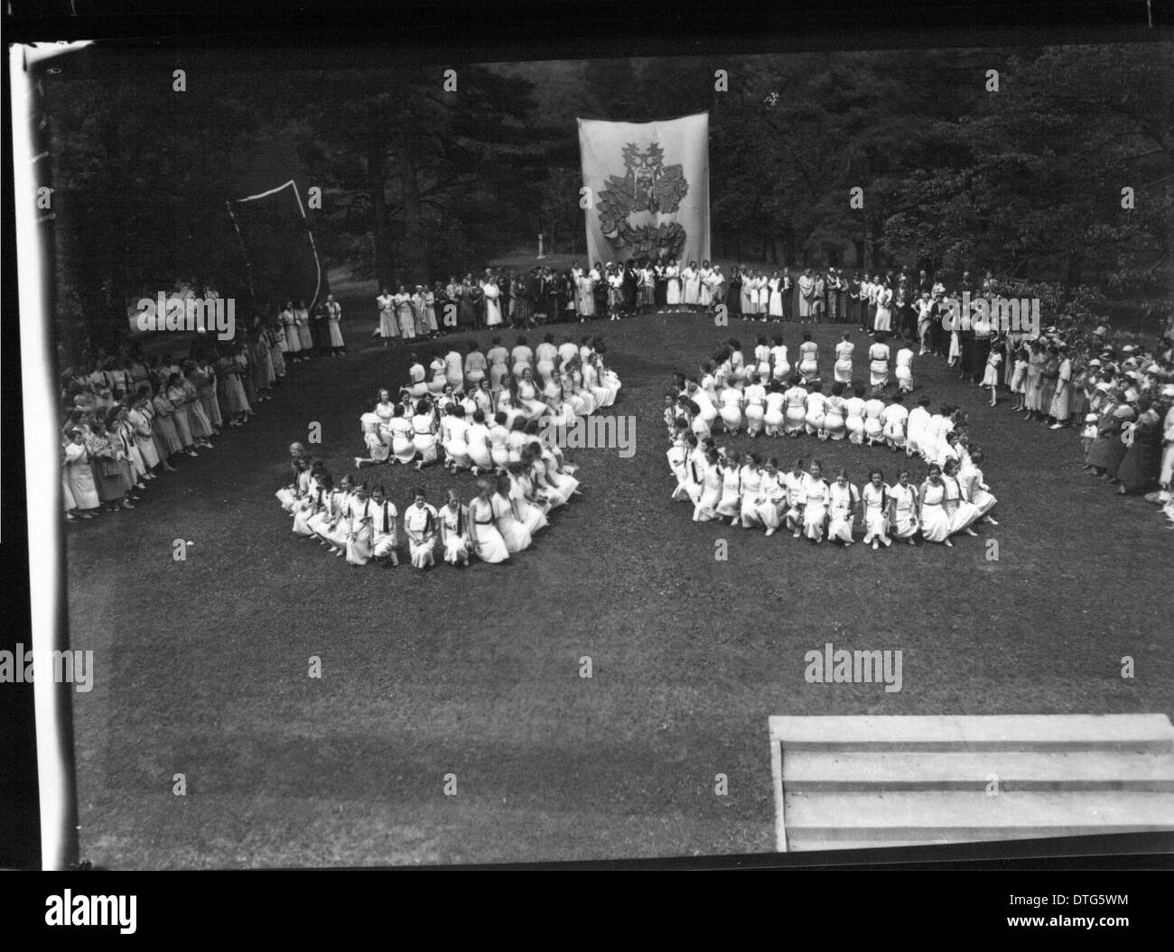 Western College on Tree Day 1933 - Stock Image