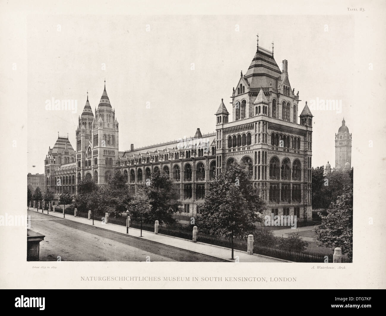 Natural History Museum, London. August 1902 - Stock Image