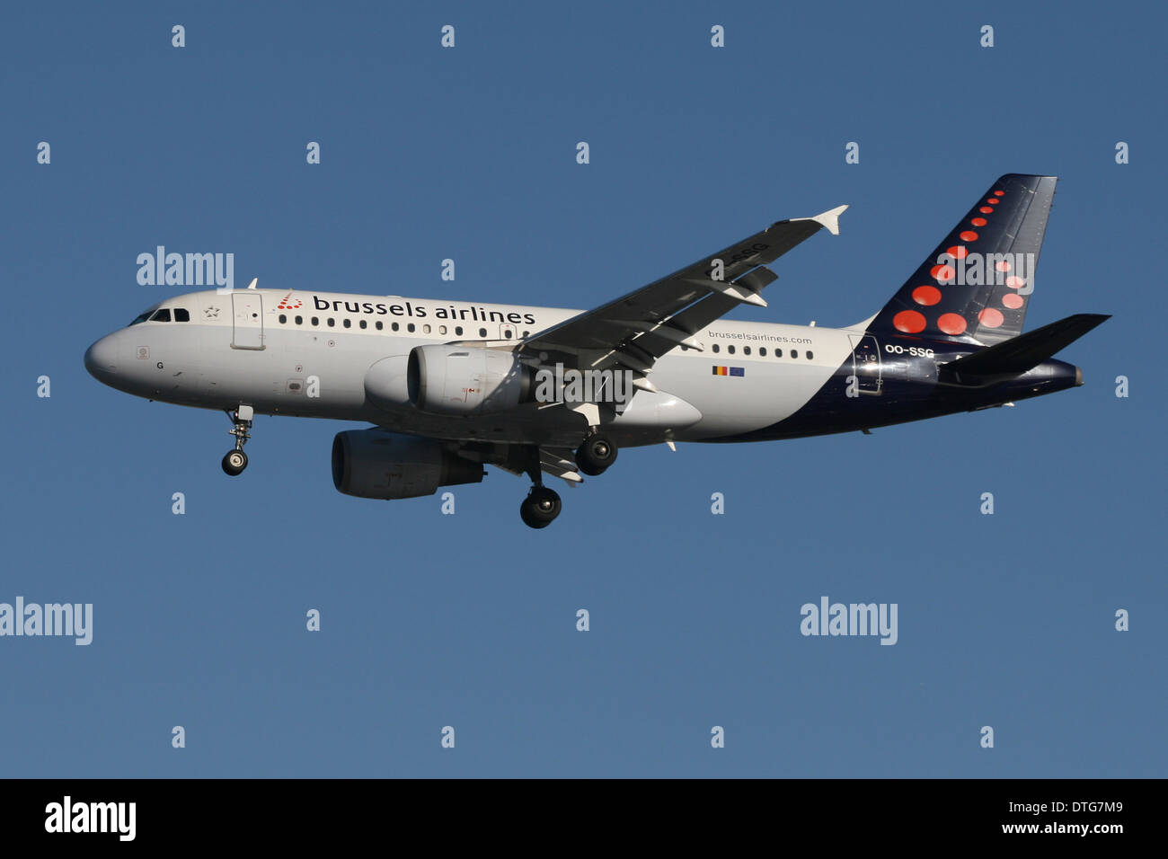 BRUSSELS AIRLINES AIRBUS A319 - Stock Image