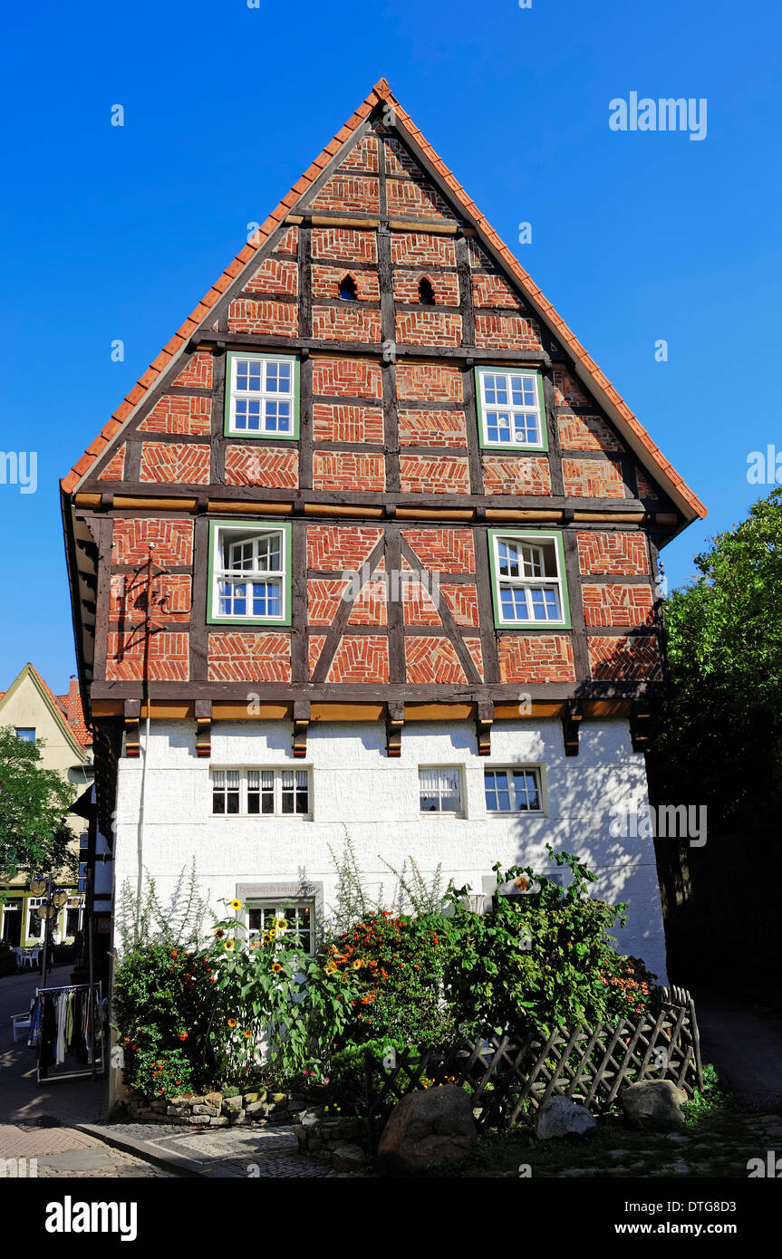 Timber-framed house, Bad Salzuflen, North Rhine-Westphalia, Germany - Stock Image
