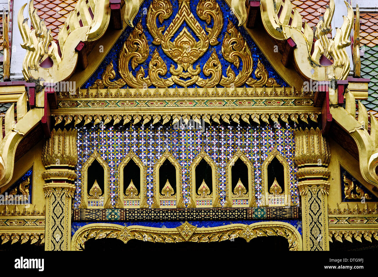 Thai-Sala, Thai pavilion, Westpark, Munich, Bavaria, Germany - Stock Image