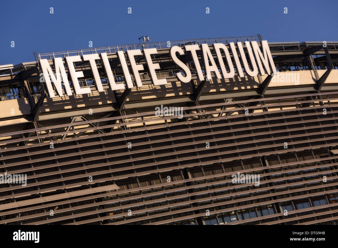Exterior view of the MetLife Stadium in Rutherford, New Jersey. - Stock Image