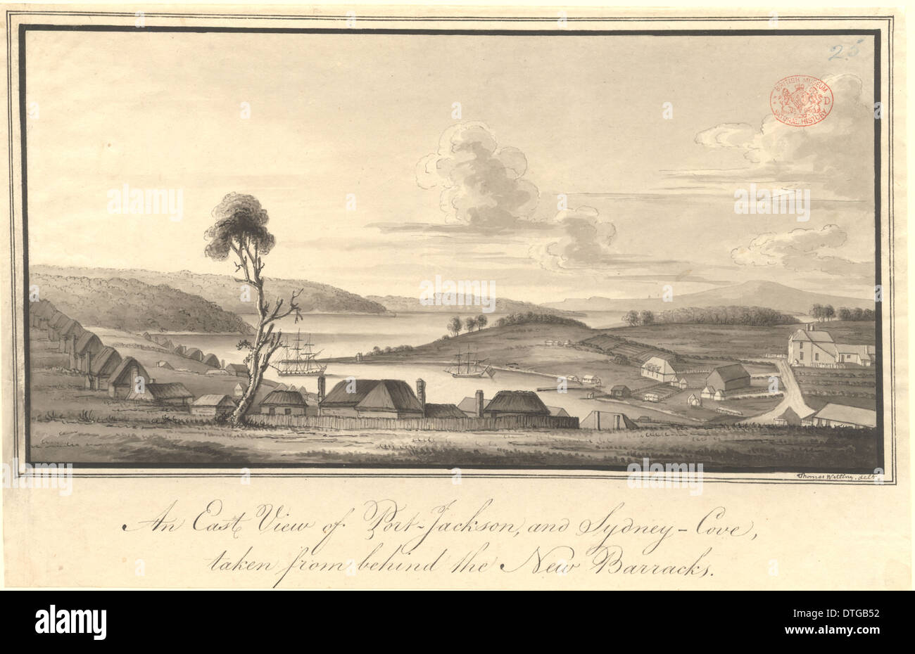 An East view of Port Jackson - Stock Image
