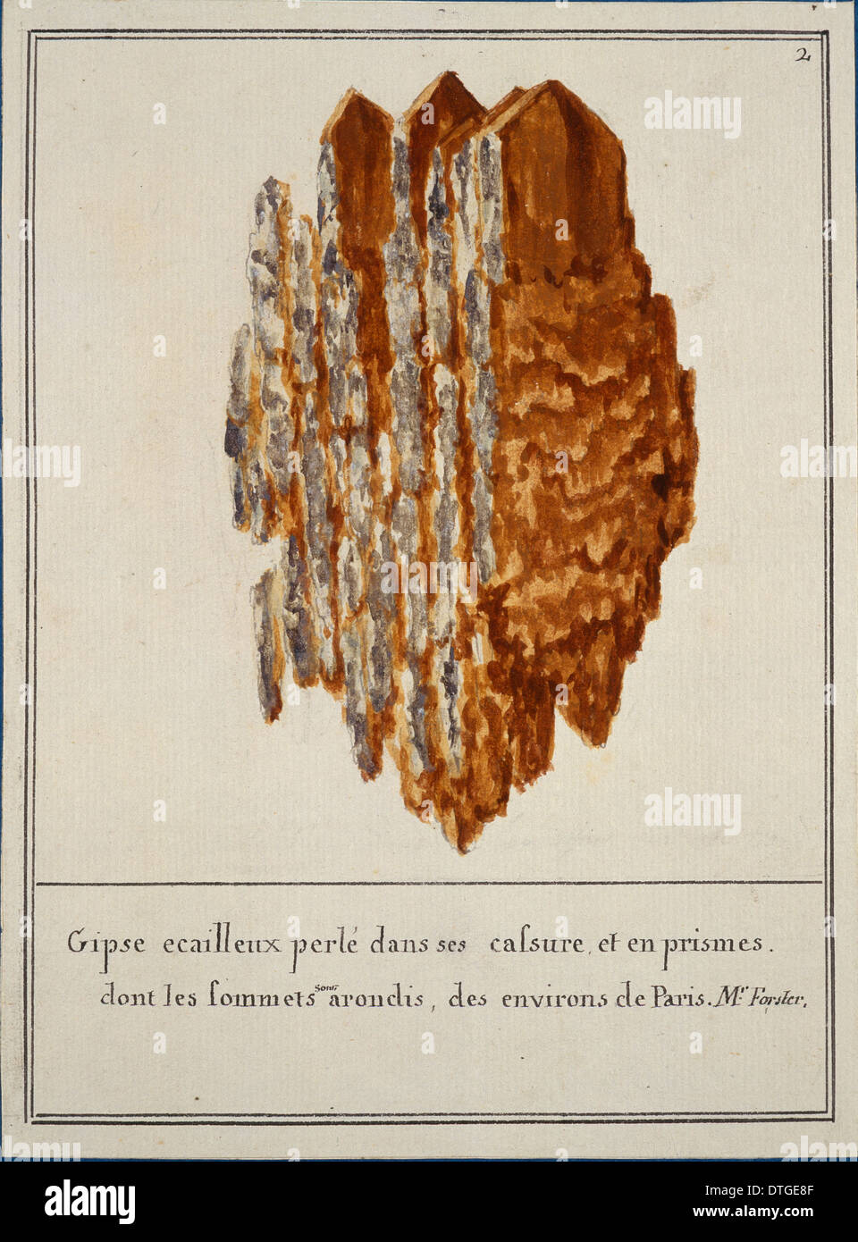 Plate 2 from Mineralogie Volume 1 (1790) by Swebach Desfontaines - Stock Image