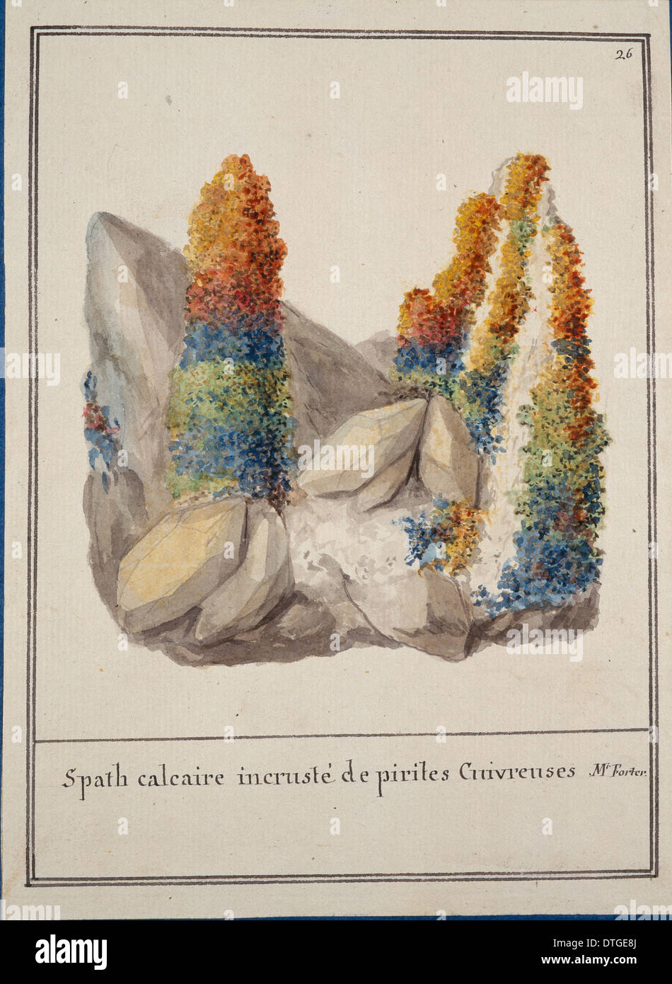 Plate 26 from Mineralogie Volume 1 (1790) by Swebach Desfontaines - Stock Image