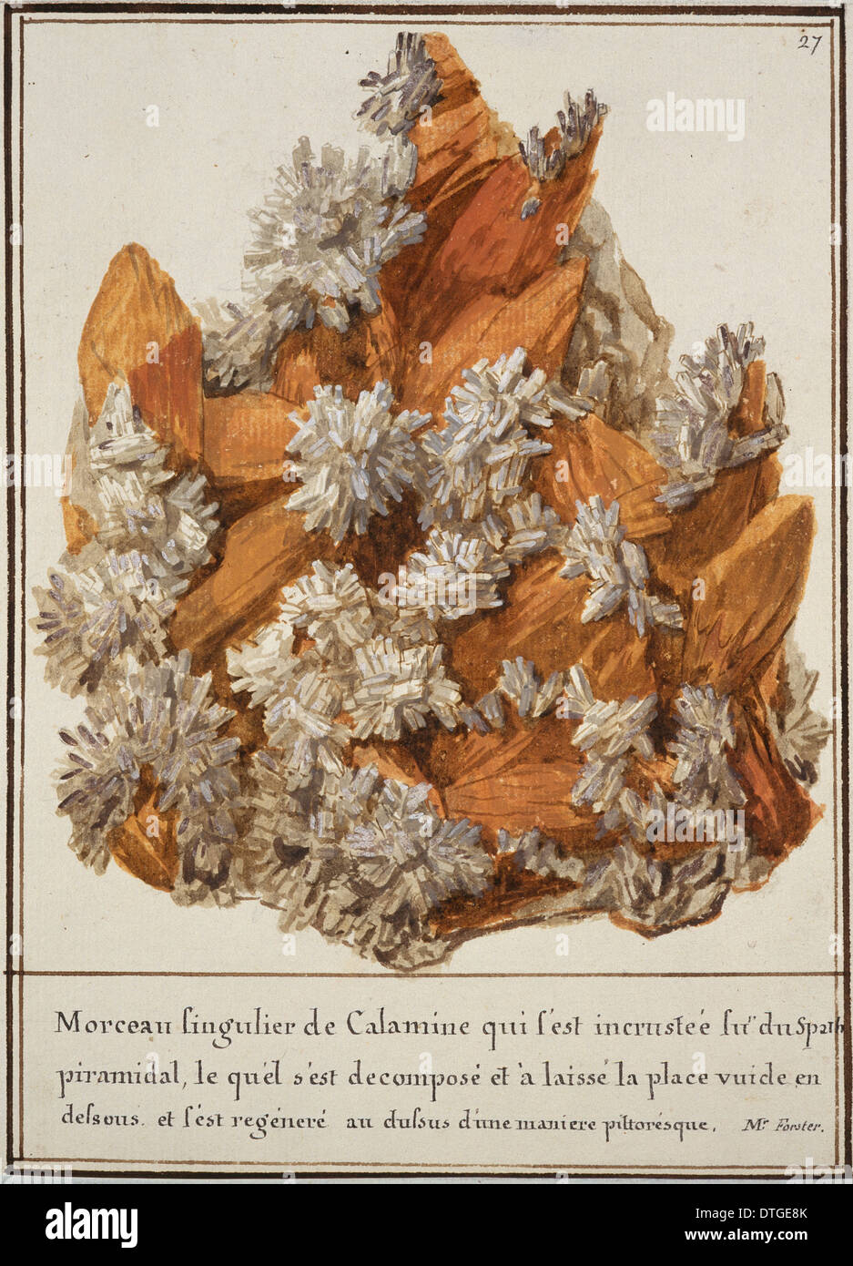 Plate 27 from Mineralogie Volume 1 (1790) by Swebach Desfontaines - Stock Image