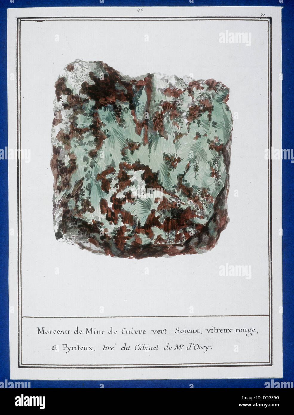 Plate 41 from Mineralogie by Swebach Desfontaines - Stock Image