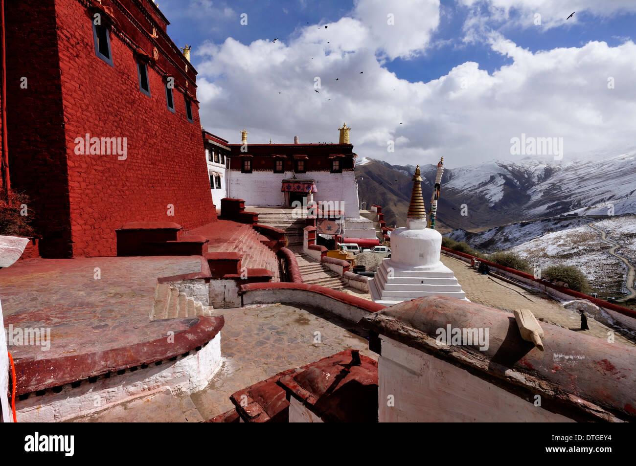 Tibet, Ganden Monastery - Stock Image