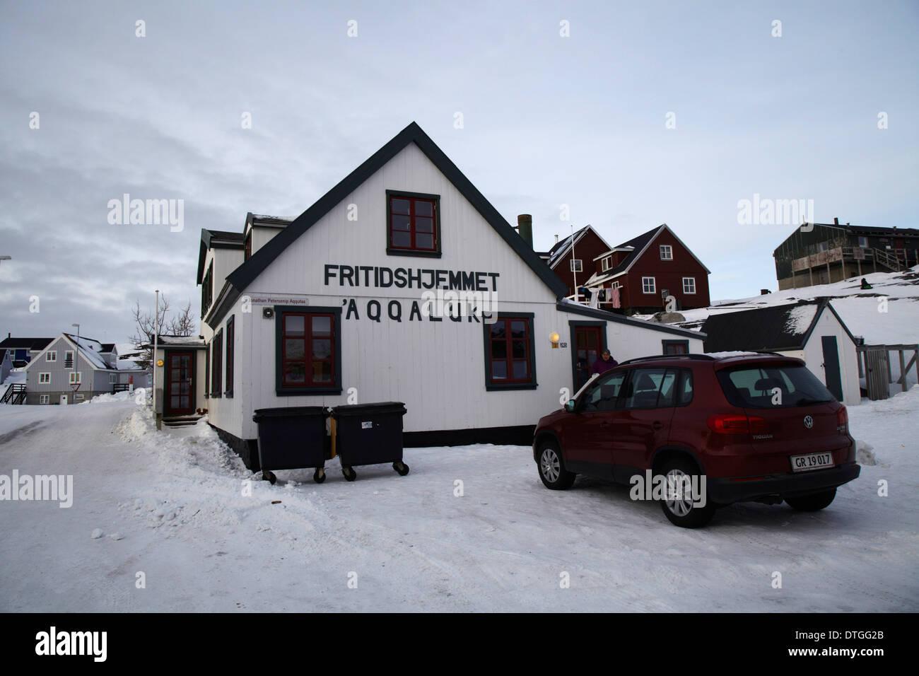 A kindergarten in Nuuk, Greenland - Stock Image