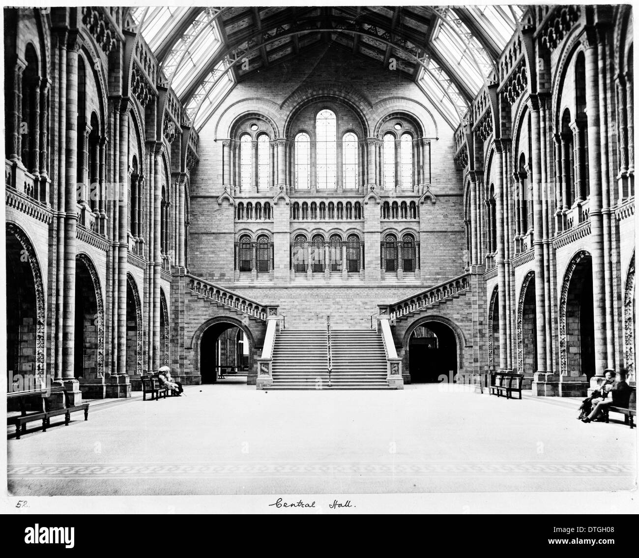 The Central Hall of the Natural History Museum, London - Stock Image