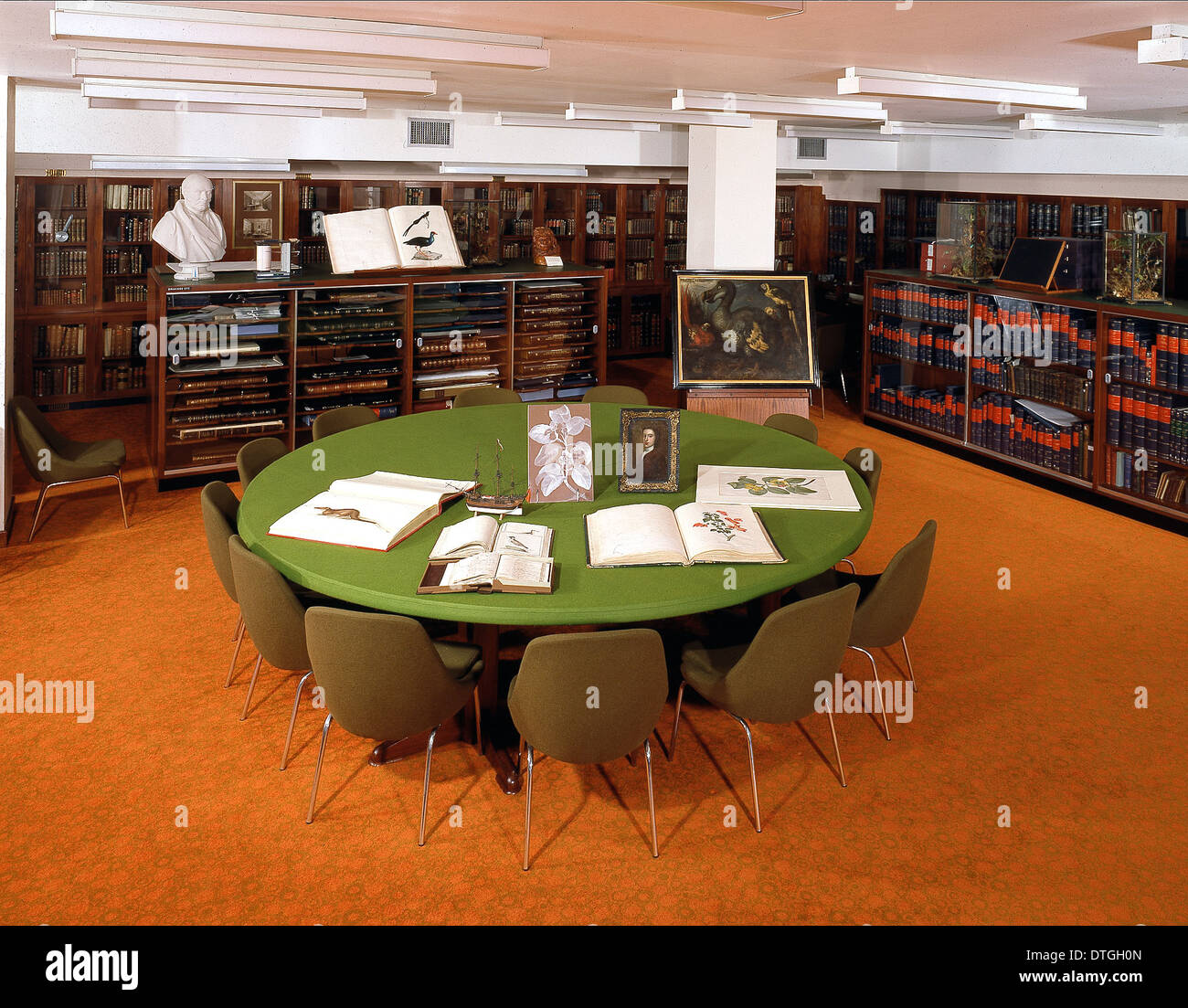 The Rare Book Room at the Natural History Museum, London - Stock Image