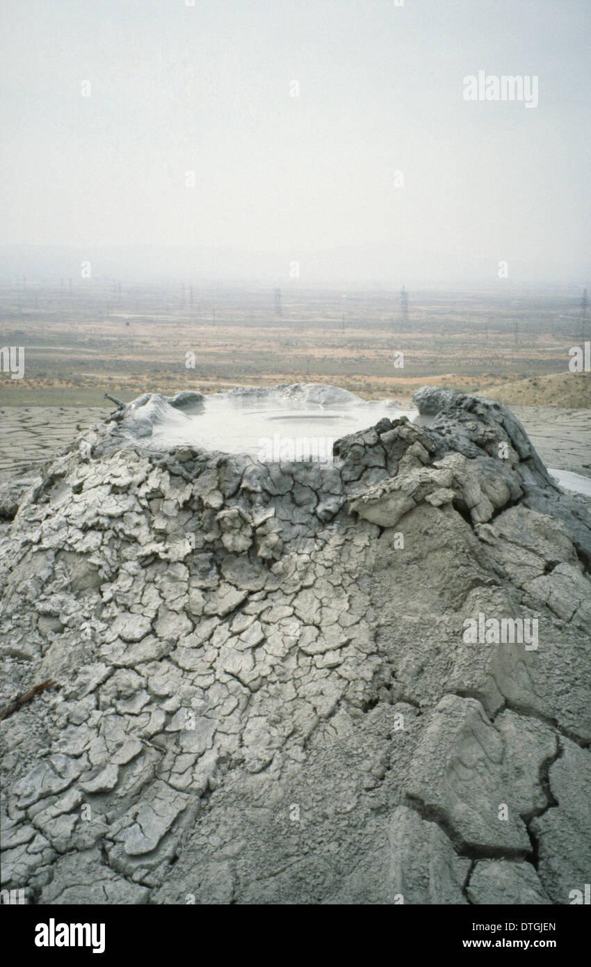 Mud volcanoes vent, Baku 1992 - Stock Image
