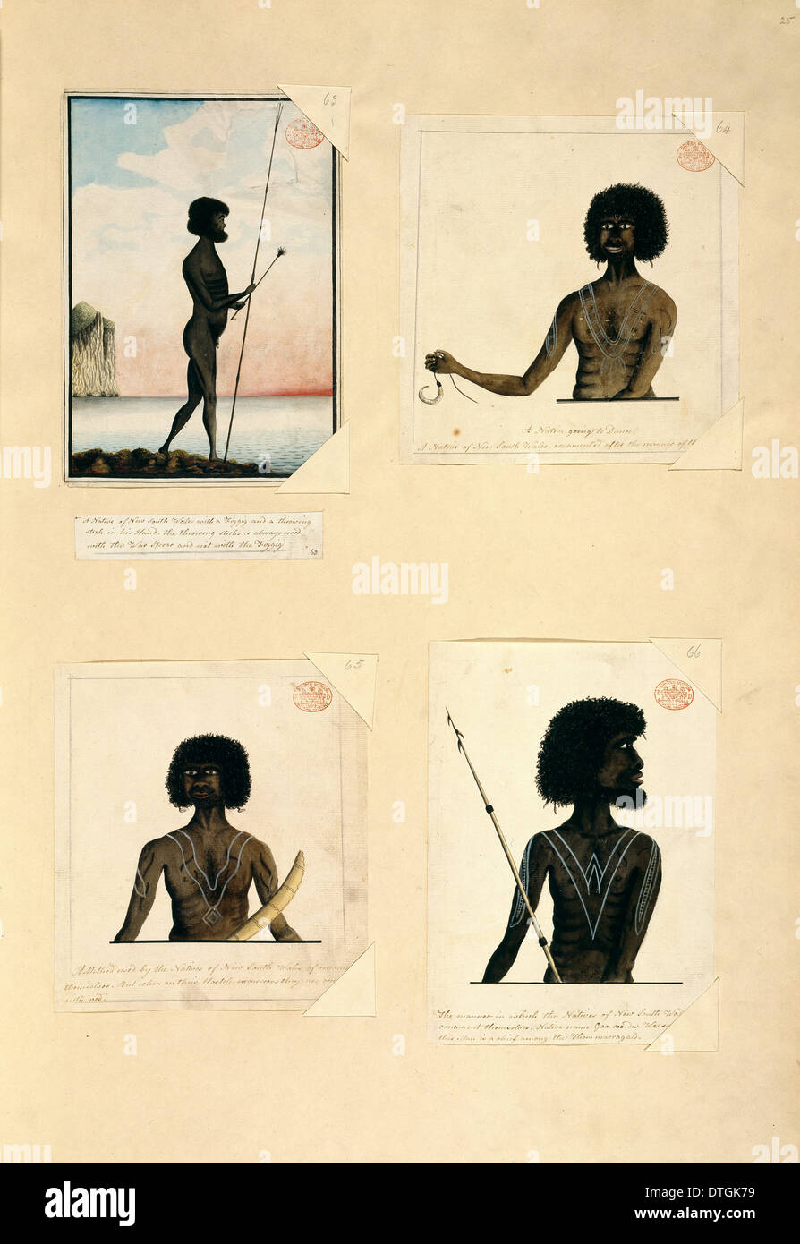 Drawings 54-57 from the Watling Collection - Stock Image