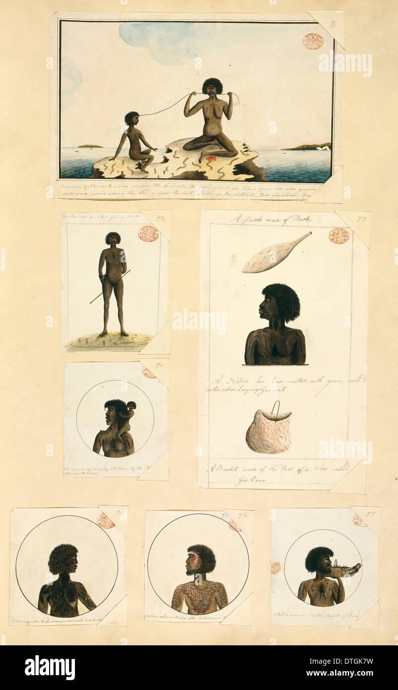 Australian Aborigine portraits - Stock Image