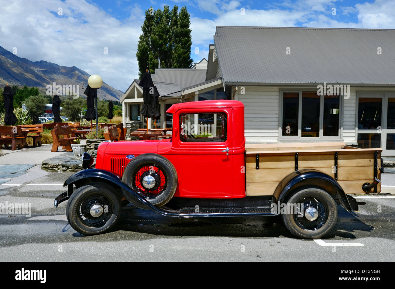 An 1930\'s classic Ford Model Pickup truck in Glenorchy, south Island ...