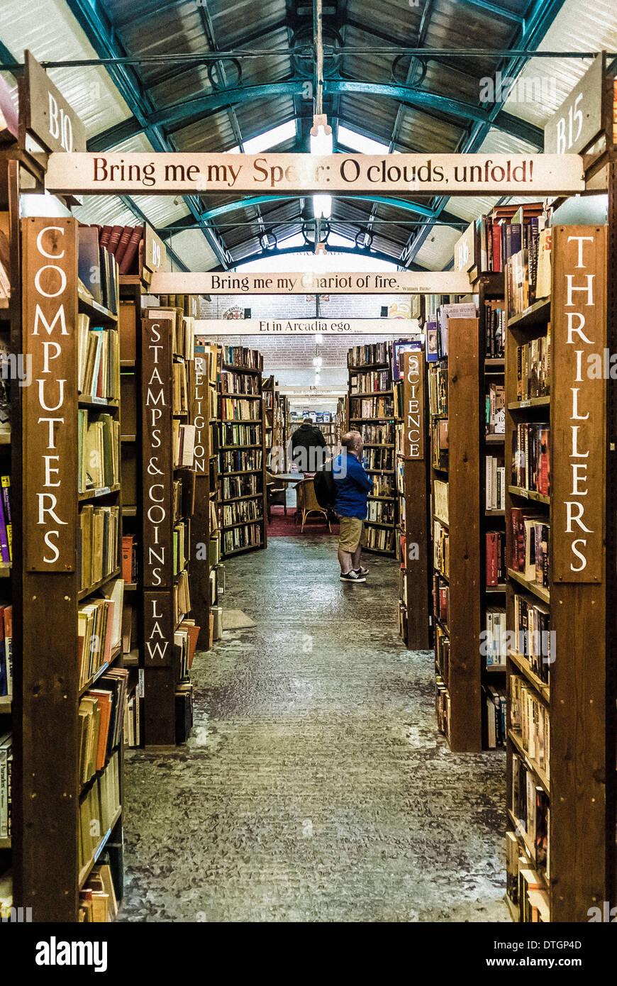 Barter Books, Alnwick, Northumberland, UK. - Stock Image