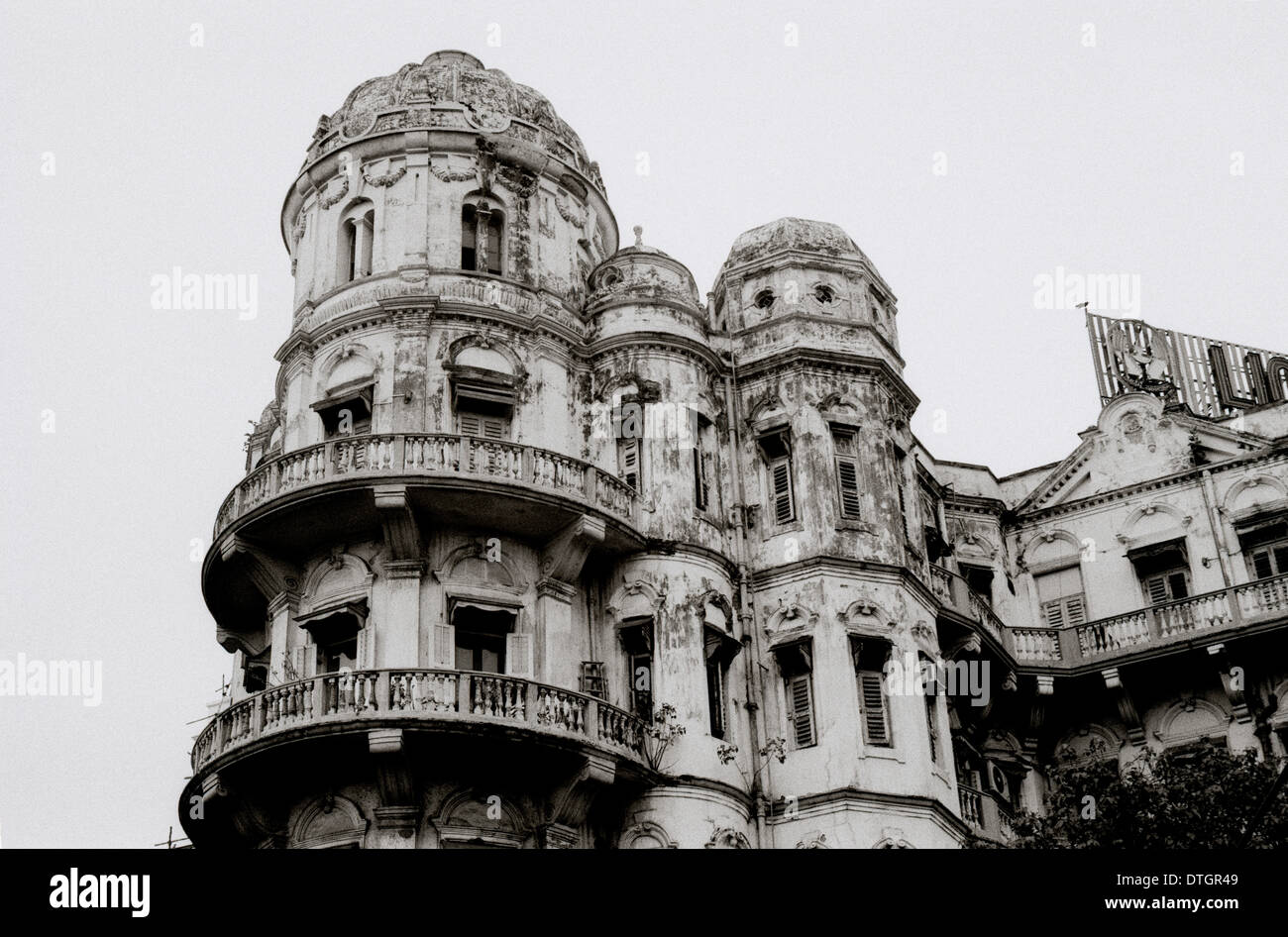 Esplanade Mansions in Kolkata Calcutta in West Bengal in India in South Asia. House Housing Dilapidated Dilapidation Stock Photo