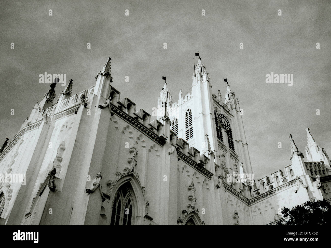 Saint Paul's Cathedral Kolkata Calcutta in West Bengal in India in South Asia. Paul Anglican Church Religion Religious Building Architecture Travel - Stock Image