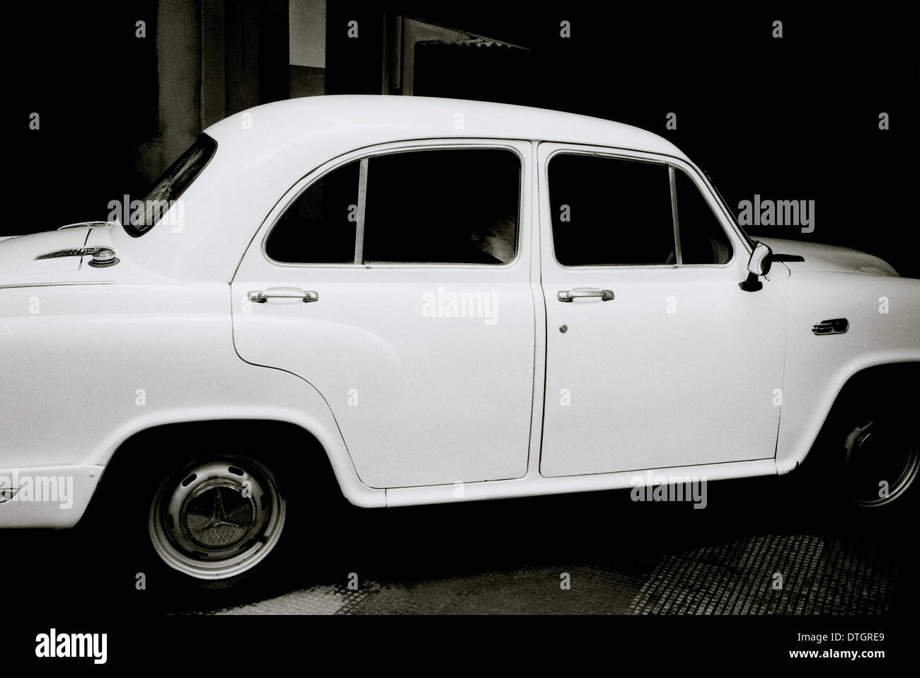 Travel Photography - Hindustan Ambassador car in Calcutta Kolkata in West Bengal in India in South Asia. Transport Car Cars - Stock Image
