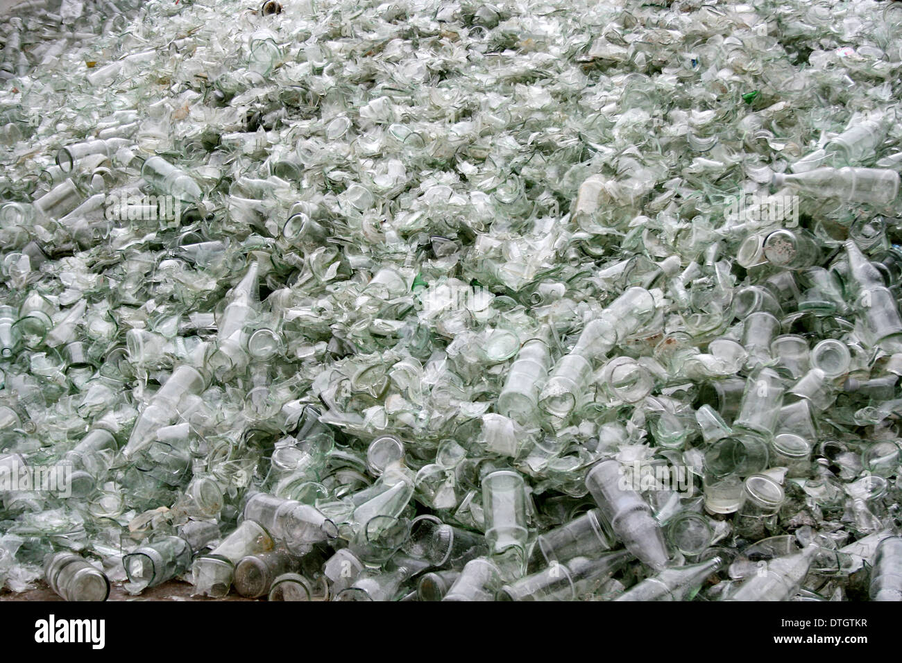 empty glas bottles recycling Stock Photo