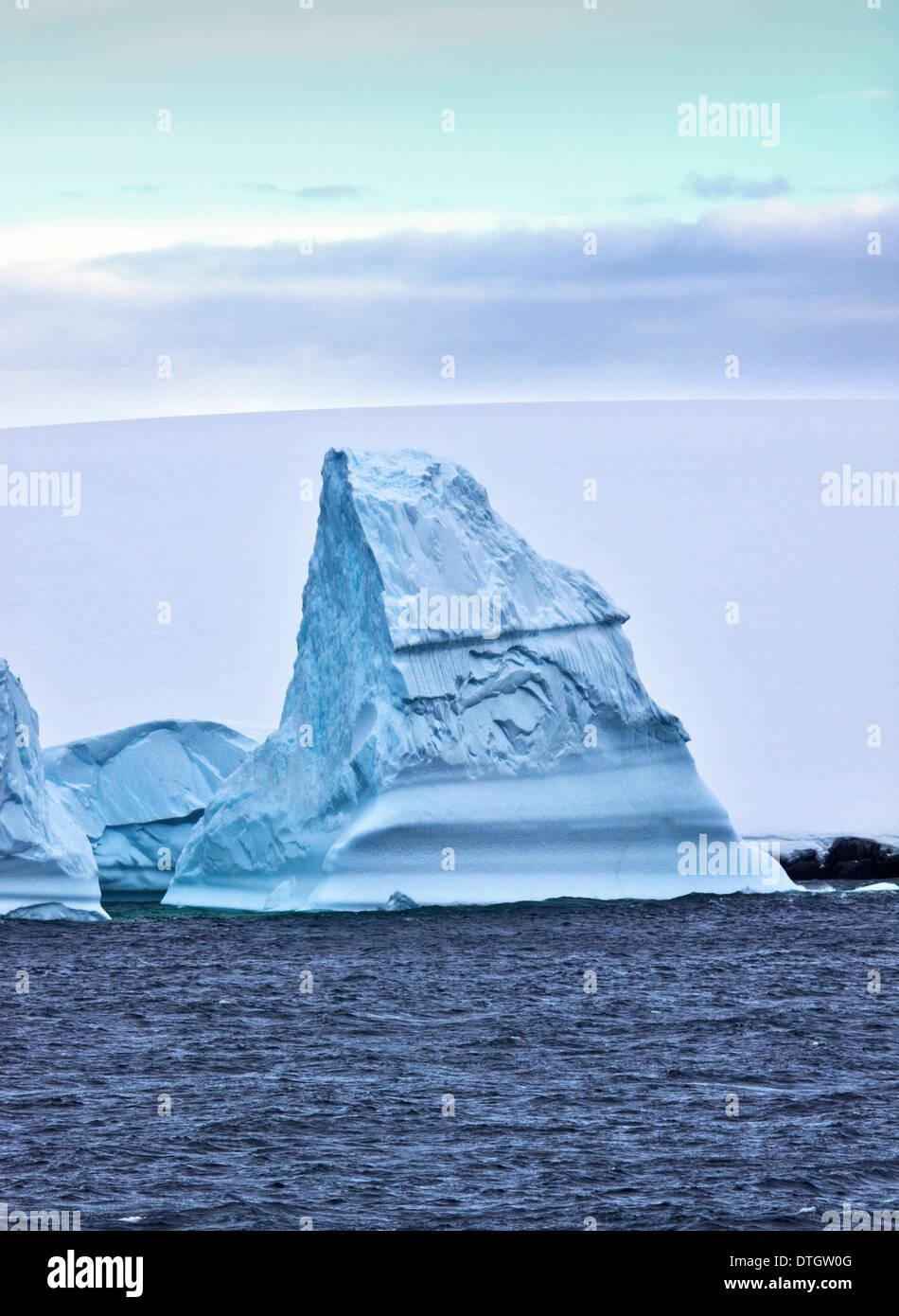Iceberg, Gerlache Strait, Antarctic Peninsula - Stock Image