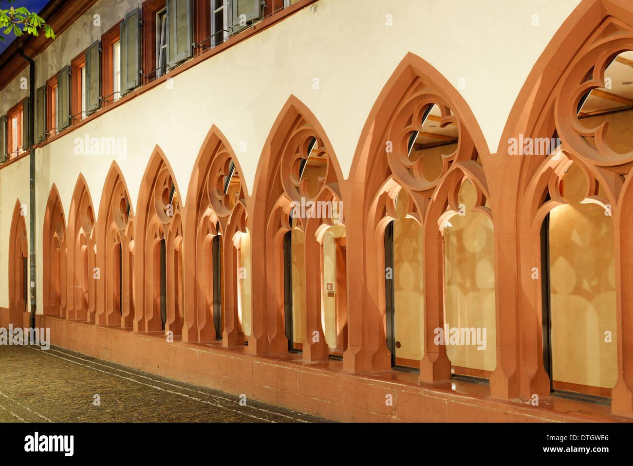 Cloister, Dominican monastery of St. Martin, Rathausplatz square, Freiburg im Breisgau, Baden-Württemberg, Germany - Stock Image