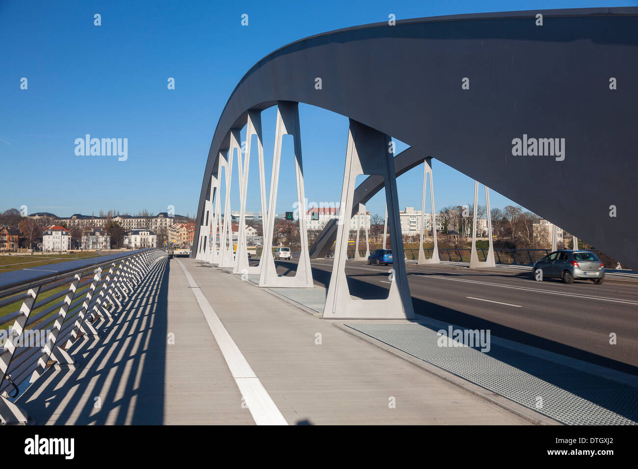 Waldschlösschen Bridge, Dresden, Saxony, Germany - Stock Image