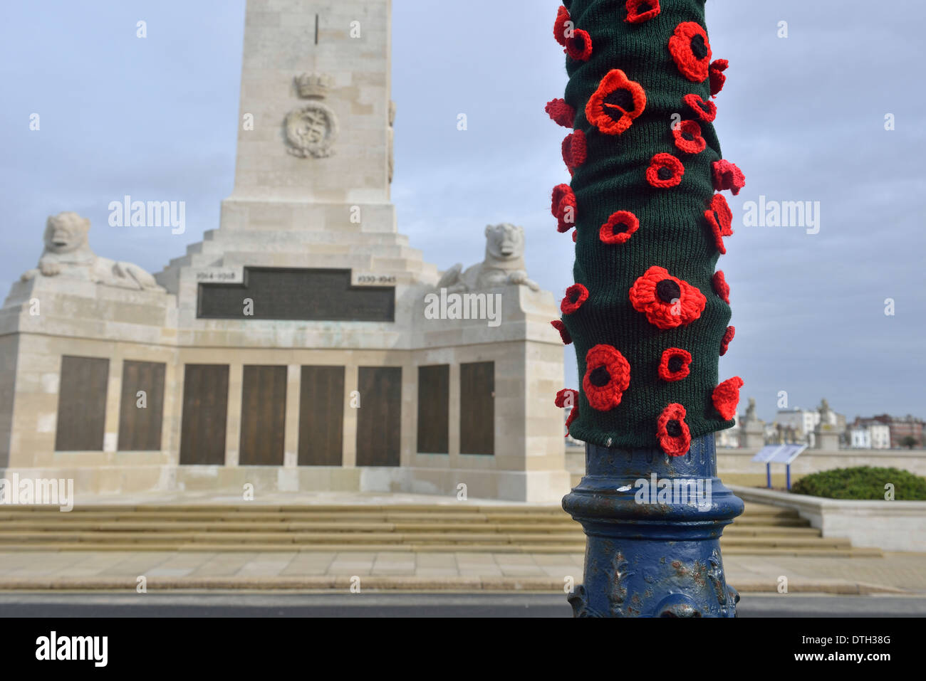 Memorial to seaman lost in war on Southsea seafront, Portsmouth, England, UK Stock Photo