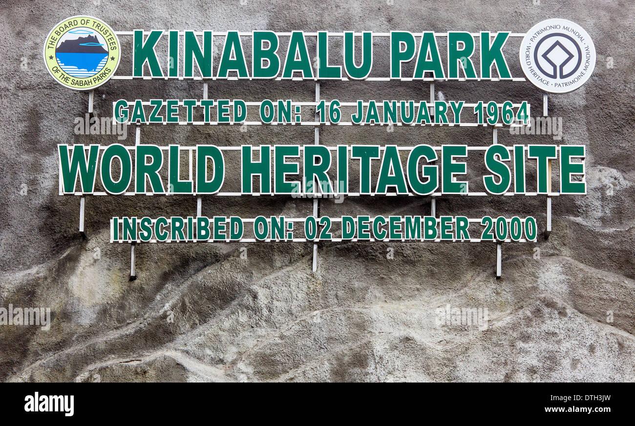 Mount Kinabalu Park Entrance, Borneo, Malaysia - Stock Image