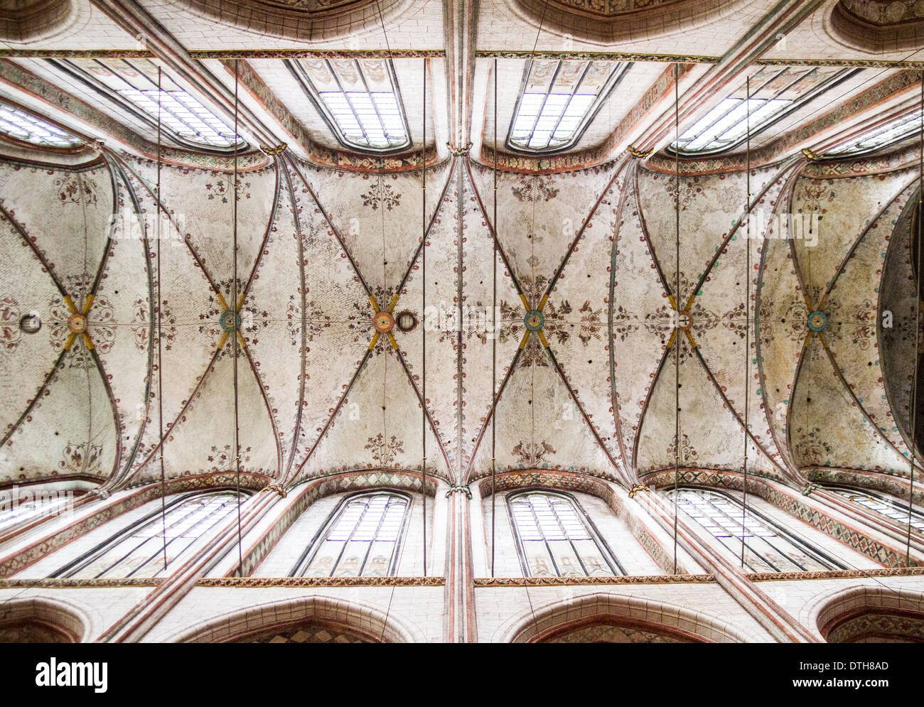 Roof of St. Mary's Church Marienkirche Lubeck Germany - Stock Image