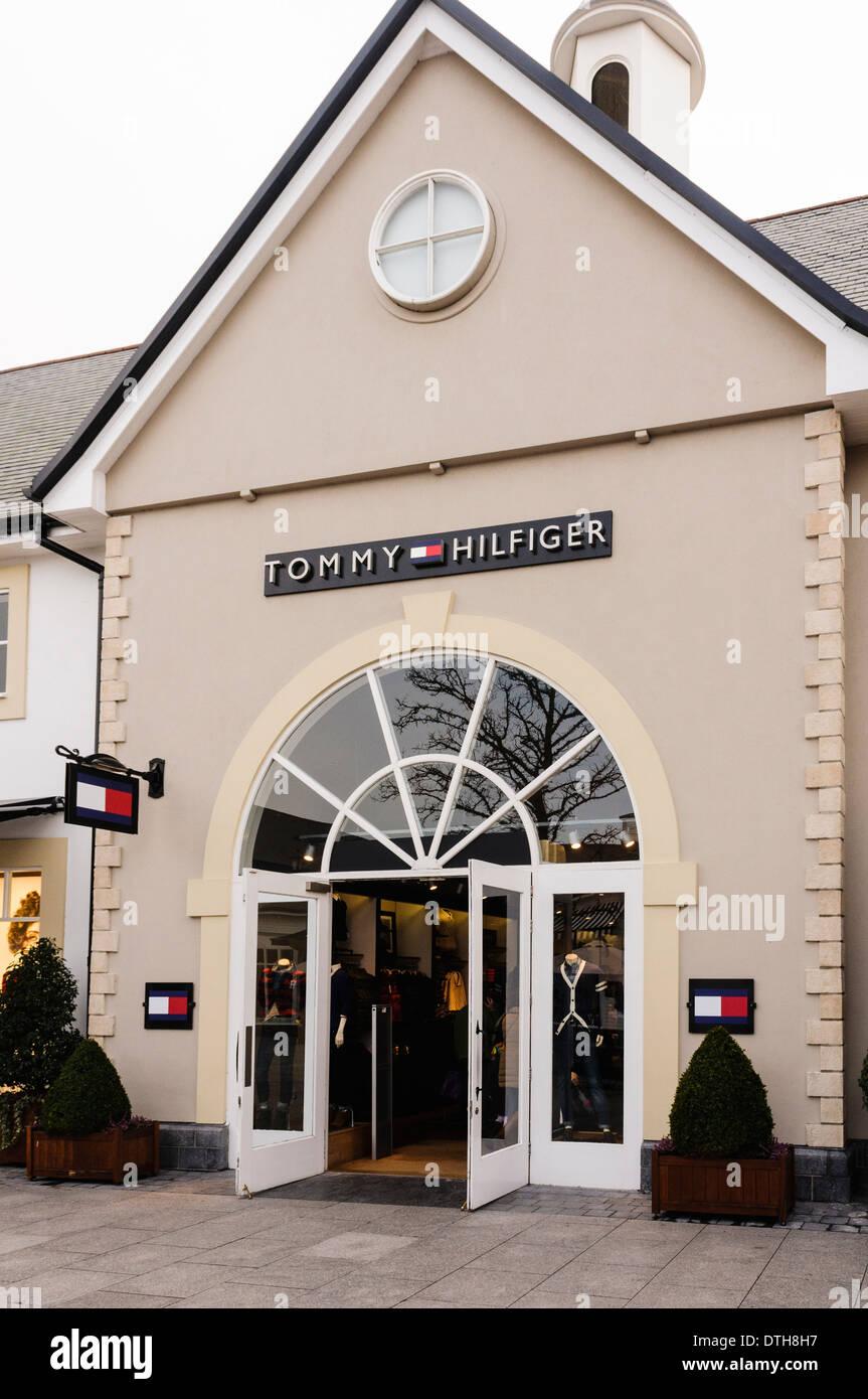 Tommy Hilfiger shop at Kildare Outlet Village - Stock Image