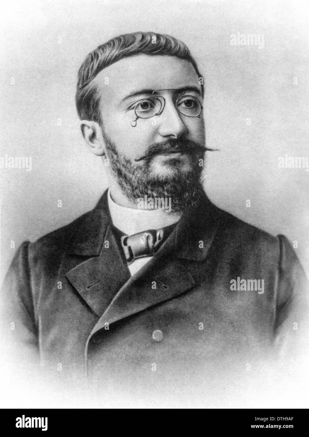 Alfred Binet (1857-1911) French psychologist who invented the first intelligence (IQ) test at Sorbonne (University of Paris). - Stock Image