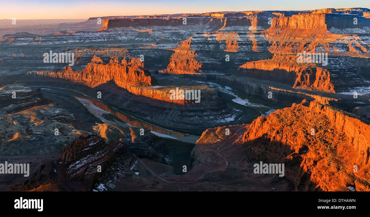 Winter sunrise Dead Horse Point State Park, Utah - USA - Stock Image