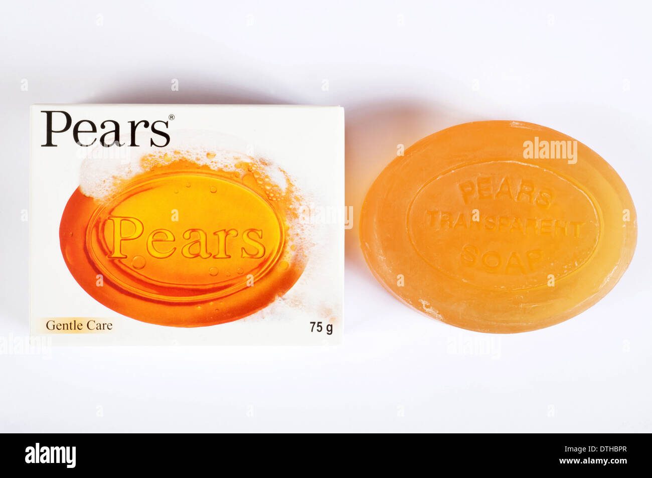 Pears transparent soap - Stock Image
