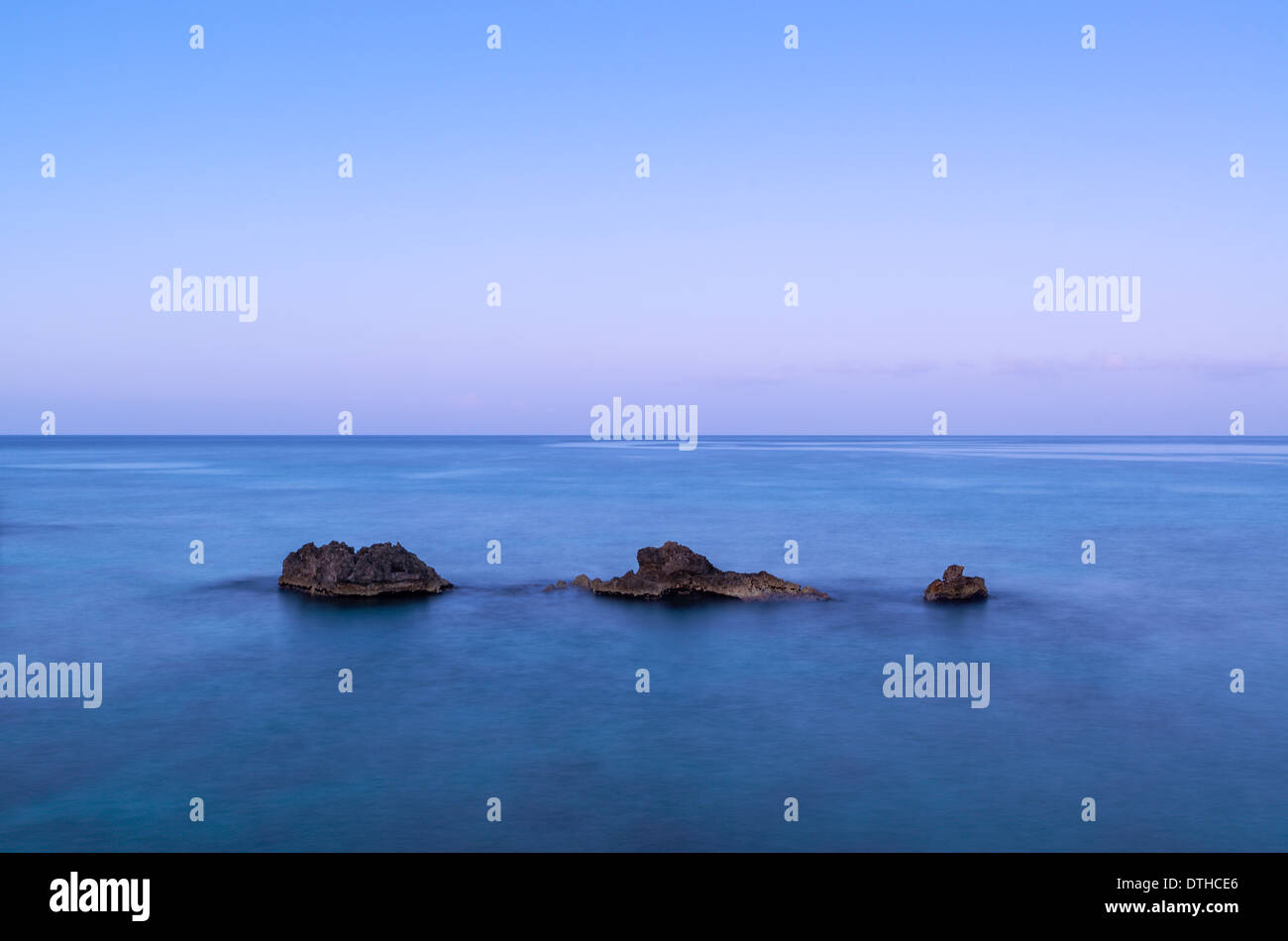 Tranquil seascape, Negril, Jamaica - Stock Image