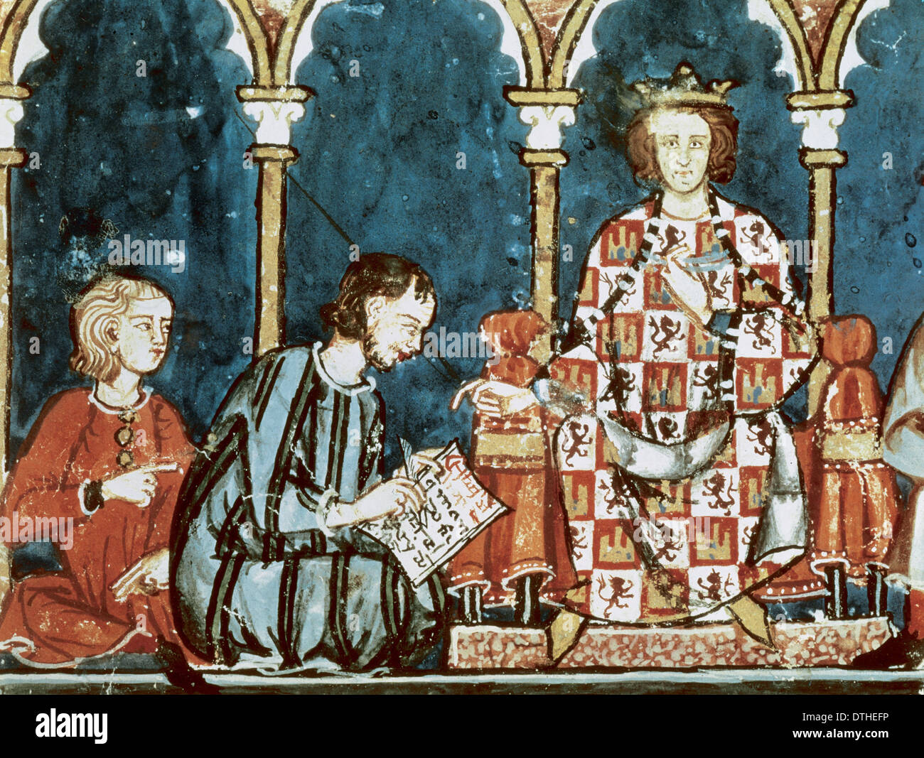 Alfonso X of Castile (1221-1284). King of Castile and Leon. Book of Games. Seville, 1282. - Stock Image