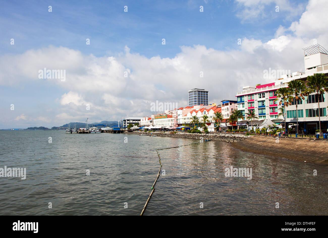 Sandakan Harbour Front, Sabah, Malaysia - Stock Image
